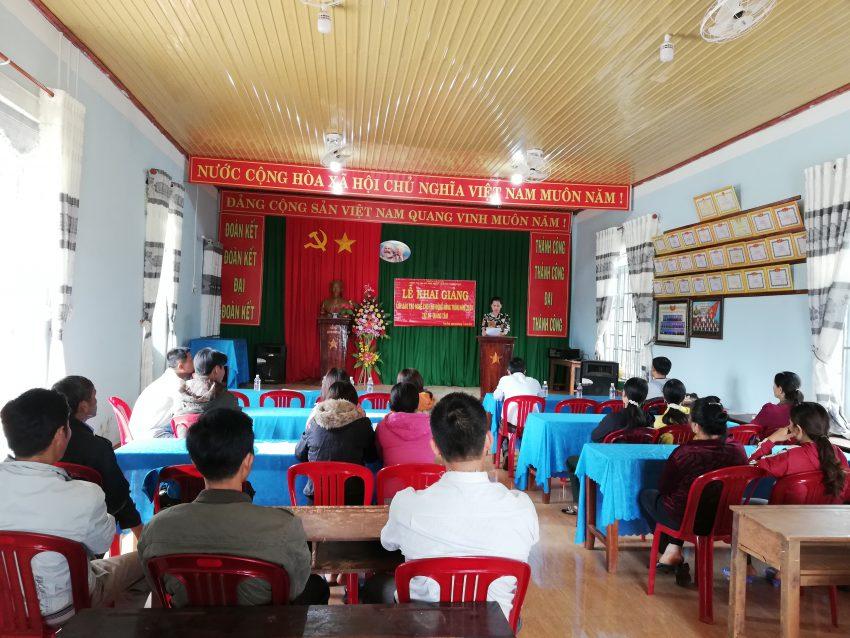 Khai giảng lớp đào tạo nghề lao động nông thôn xã Quảng Tâm 2018